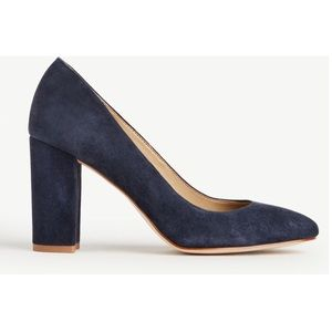 b92f2685263 Ann Taylor Shoes - Ann Taylor emeline suede block heel pumps navy